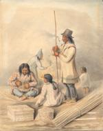 Painting entitled Maliseet Basket Makers