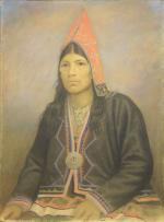 Painting of Micmac woman