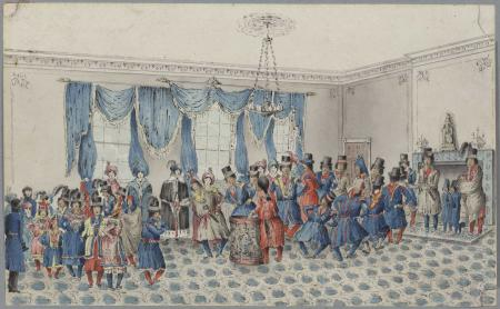 Painting of Indian Dance at Government House in Fredericton, New Brunswick