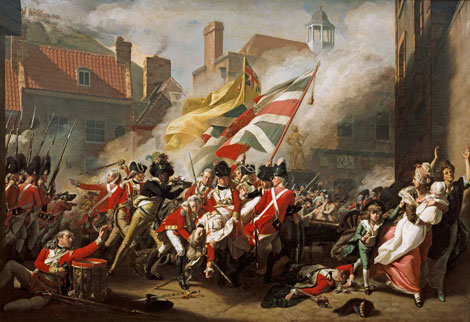 'The Death of Major Peirson', John Singleton Copley